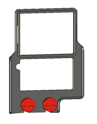 """Picture of Z-Finder 3"""" Mounting Frame for Tall DSLR Bodies"""