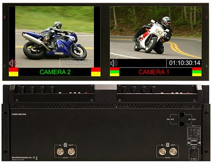 Image de V-R1042-IMD-TE4U Dual 10.4' High Def 1024x768 Monitor Set with built in IMD Function
