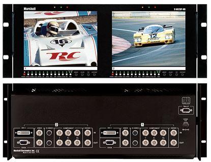 Image de V-R82DP-HD Dual 8.4' LCD Rack Mount Panel with Multiformat inputs