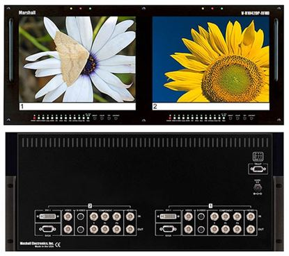 Afbeelding van V-R1042DP-AFHD Dual 10.4' High Resolution HD/SD monitor set with Advanced Features