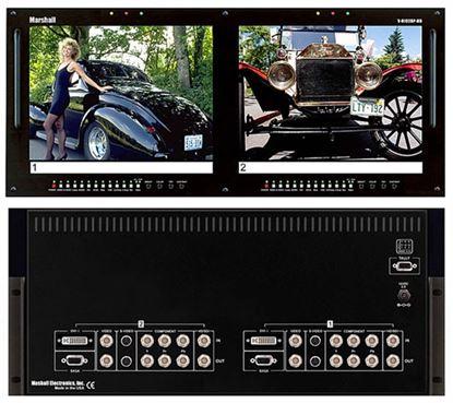 Afbeelding van V-R102DP-HD Dual 10.4' LCD Rack Mount Panel with Multiformat inputs