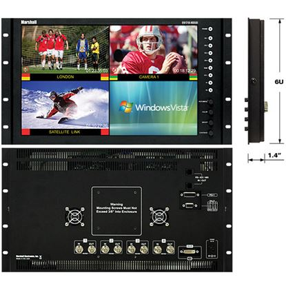 Image de QV-171X-HDSDI 17' Native HD Resolution LCD Rack Mount Monitor with built in Quad Splitter