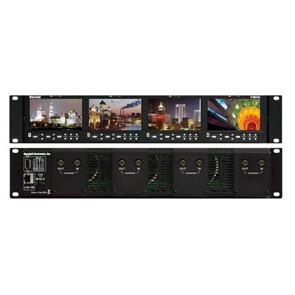 Afbeelding van V-MD434-3GSDI Four 4.3' Wide Screen Rack Unit with 4 x 3GSDI input modules installed
