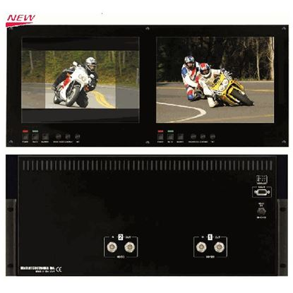 Afbeelding van V-R1042DP-TE Dual 10.4' High Def 1024x768 Monitor Set with HDSDI inputs, TE Line, 5RU