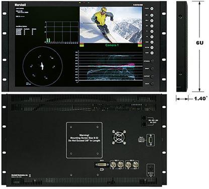 Afbeelding van V-R171X-DLW 17' Native HD Resolution IMD LCD Rack Mount Monitor with Waveform & Vectorscope Displays