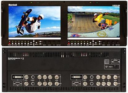 Afbeelding van V-R902DP-AFHD Dual 9' Wide Screen High Resolution HD/SD monitor set with Advanced Features