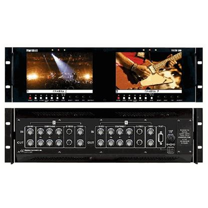 Afbeelding van V-R72P-2HD Dual Screen Multiformat 1.2 Megapixel HD/SD LCD Monitor Set