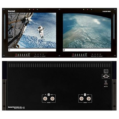 Image de V-R102DP-HDSDI Dual 10.4' LCD Rack Mount Panel with HDSDI Input