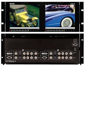 Afbeelding van V-R82DP-SD Dual 8.4' LCD Rack Mount Panel all inputs with SDI
