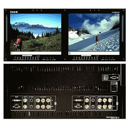 Afbeelding van V-R102DP-HDA Dual 10.4' LCD Rack Mount Panel with HDA + DVI inputs