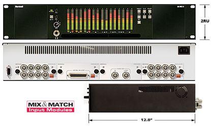 Afbeelding van AR-DM2-B 16 Channel Digital Audio Monitor - 2RU Mainframe with Tri-Color LCD Bar Graphs