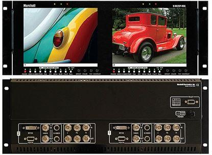 Image de V-R82DP-HDA Dual 8.4' LCD Rack Mount Panel with HDA + DVI inputs
