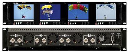 Image de V-R44DP-SDI Four 4' Ultra High Resolution LCD Screen Rack Mount Panel with SDI Input
