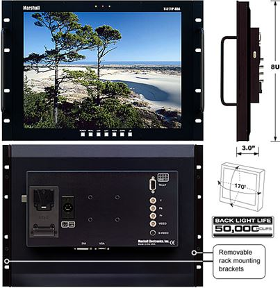 Image de V-R171P-HDA 17' LCD Rack Mount Panel with HDA inputs